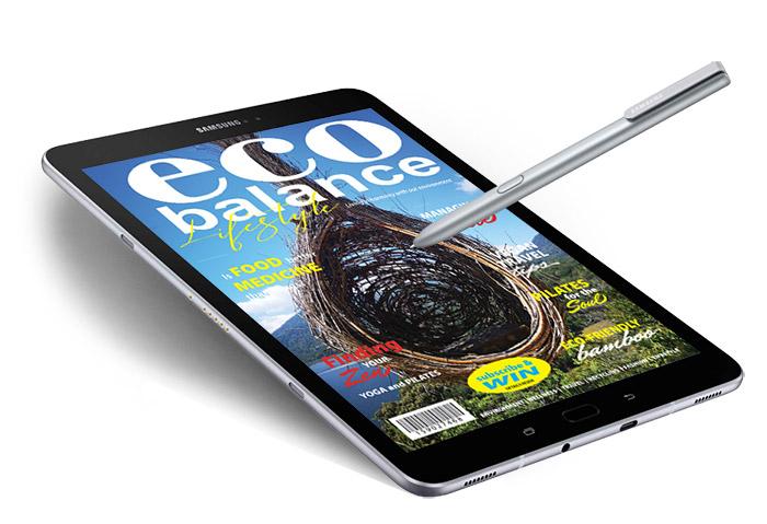 eco balance lifestyle digital magazine tablet
