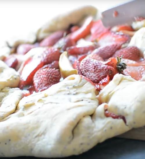 strawberry galette recipe eco balance lifestyle