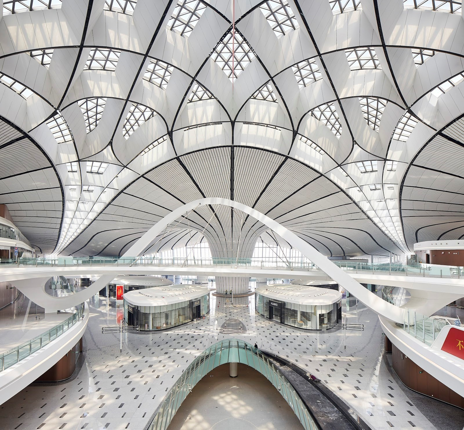 daxing airport interior eco balance lifestyle
