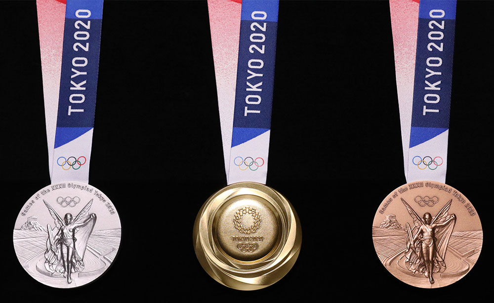 tokyo medals made from old cellphones eco balance lifestyle